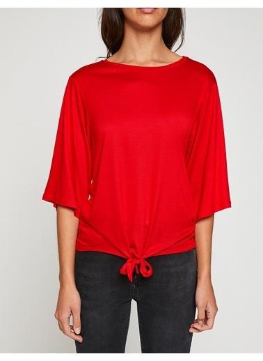 Koton Bağlamalı T-Shirt Kırmızı